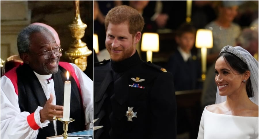 Michael Curry / Príncipe Harry y Meghan Markle
