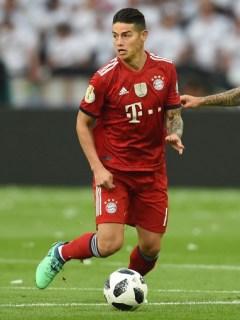 James Rodríguez en la final de la Copa de Alemania