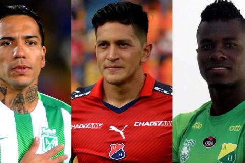 Dayro Moreno, Germán Cano y Geovanni Banguera