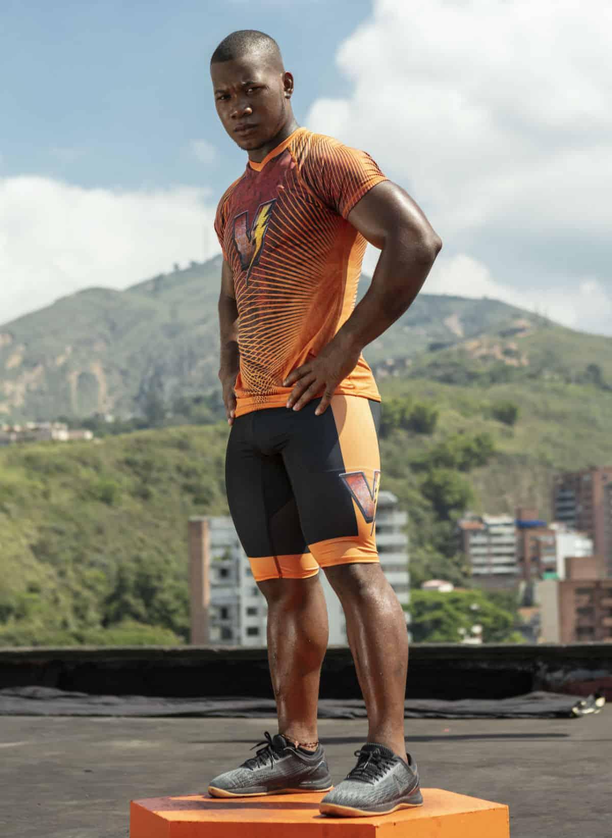 Yeison López 'Gokú', del equipo de Vallecaucanos del 'Desafío'