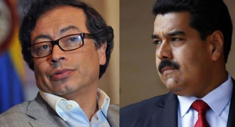 Gustavo Petro y Nicolás Maduro