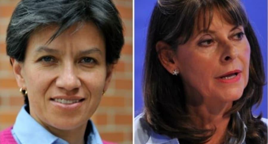 Claudia López y Marta Lucía Ramírez