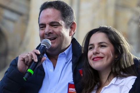 Germán Vargas Lleras y su hija Clemencia.