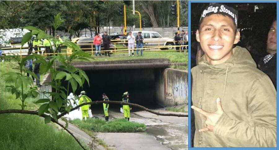 En este caño, en la calle 134 con carrera 15, fue encontrado el cuerpo de Milton David Guzmán Martínez