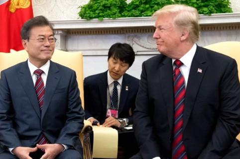Trump y líder surcoreano