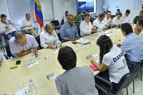 Reunión del presidente Juan Manuel Santos con autoridades de Antioauia