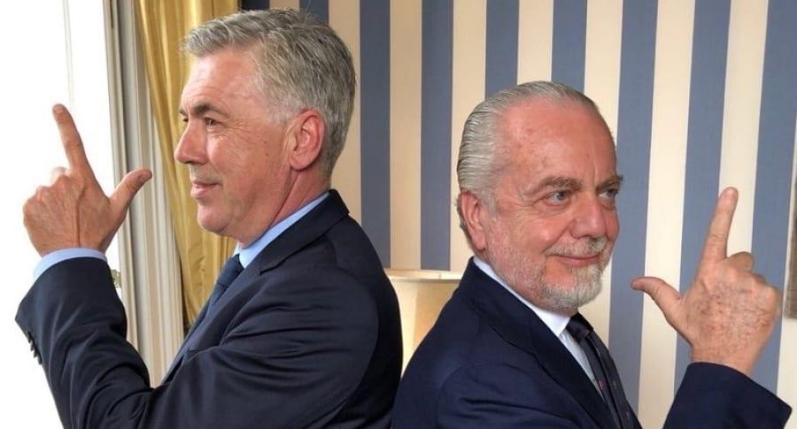 Carlo Ancelotti y Aurelio di Laurentis