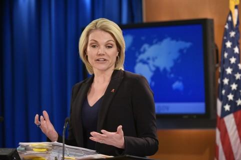 Heather Nauert. portavoz del Departamento de Estado