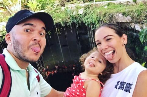 Carlos y Carolina, de Siam, con su hija Emilia