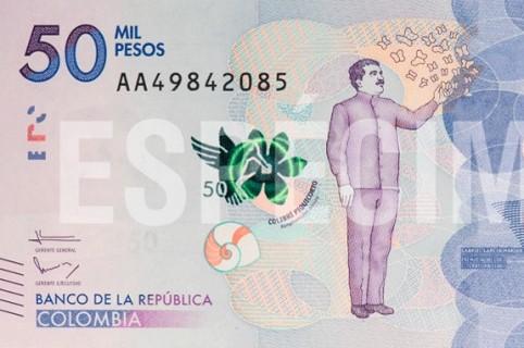 billete de 50 mil pesos nuevo