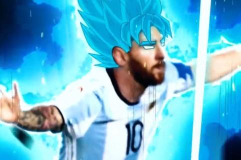 Messi como Gokú