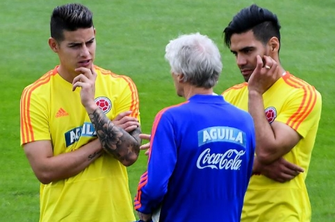 Pékerman, James y Falcao