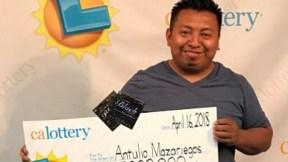 Ganador de lotería en California.