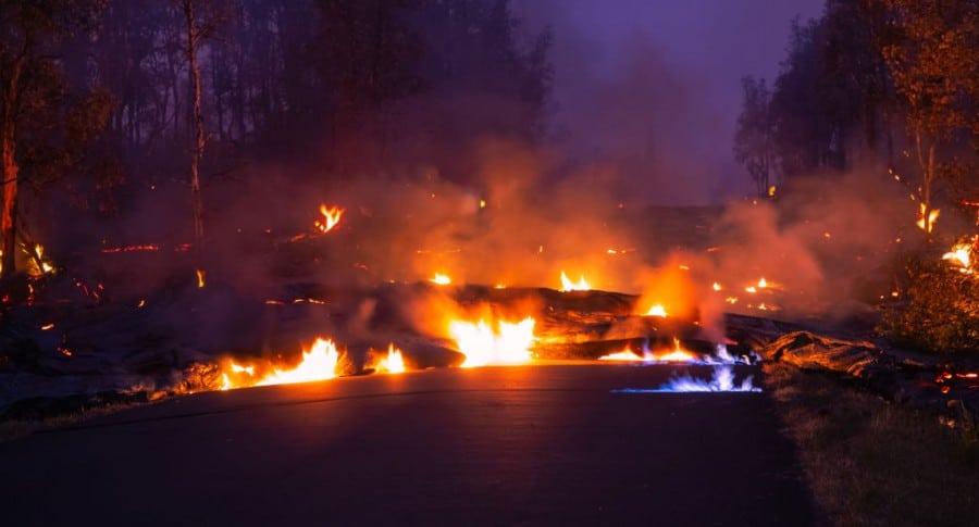 Erupción de volcán Kilauea