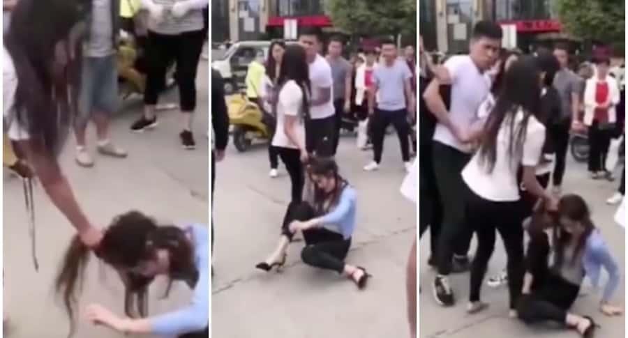 Mujer mechonea a amante de su esposo.