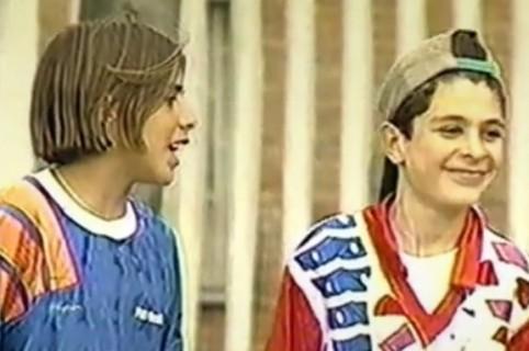 El presentador Juan Felipe Cadavid, cuando actuaba en 'De pies a cabeza' con John Alexander Ortiz, 'Nano'.