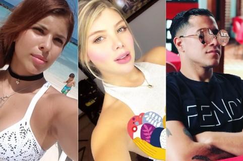 Laura y Sofía Jaramillo, modelos y hermanas, y Michel Ortega, futbolista.