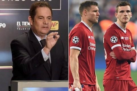 Germán Vargas Lleras y jugadores del Liverpool