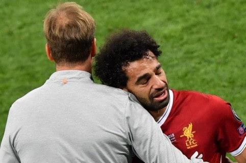 Jürgen Klopp y Mohamed Salah