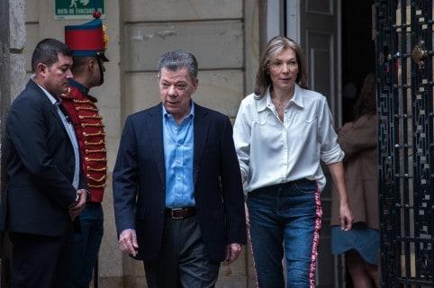 Juan Manuel Santos,  presidente, y su esposa 'Tutina' de Santos.