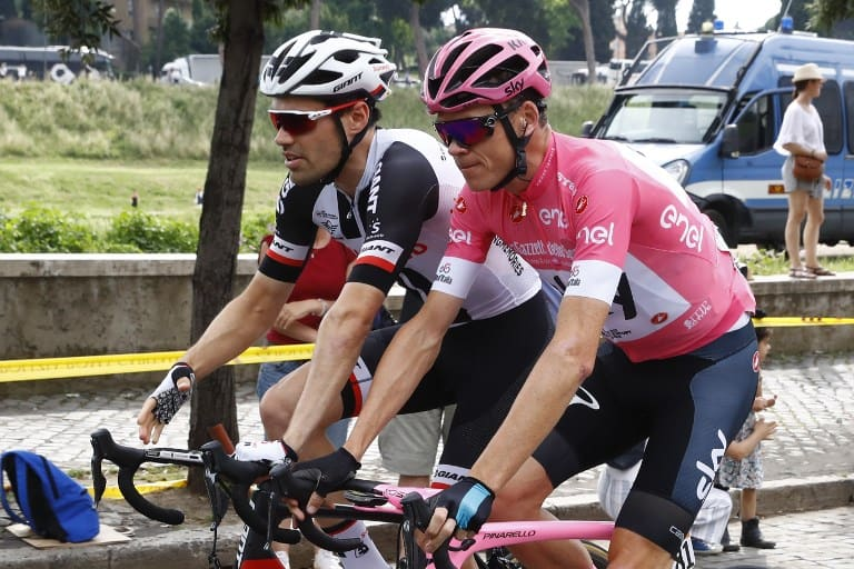 Tom Dumoulin y Christopher Froome