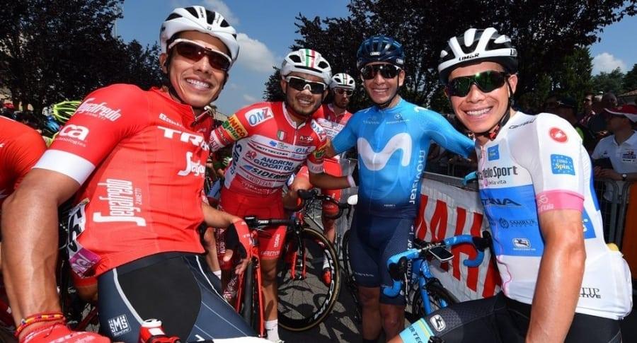 Járlinson Panatano, Rodolfo Torres, Dáyer Quintana y Miguel Ángel López