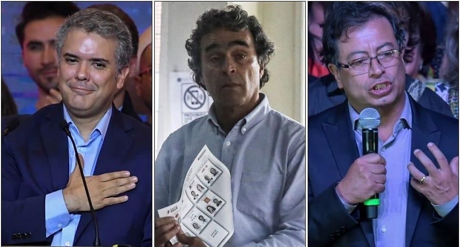 Iván Duque, Sergio Fajardo y Gustavo Petro