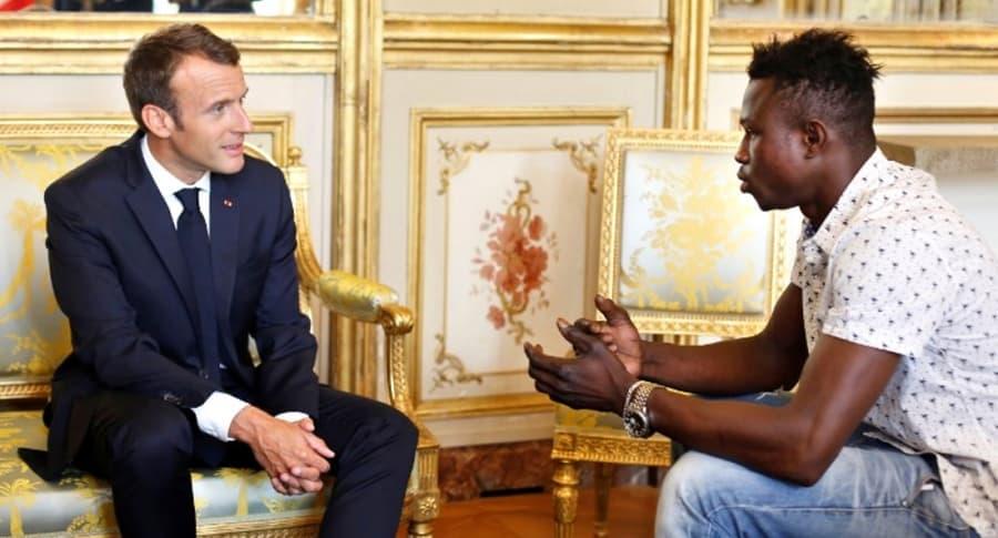 Gassama y Macron