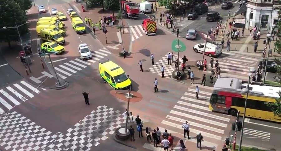 Lugar del ataque en Lieja, Bélgica.