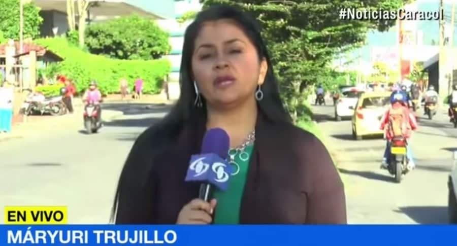 Máryuri Trujillo, reportera de Noticias Caracol
