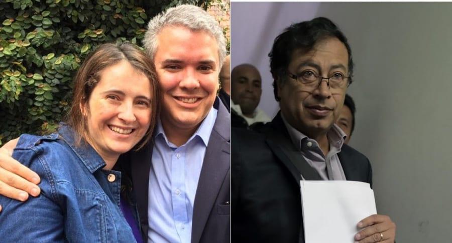 Paloma Valencia y Petro