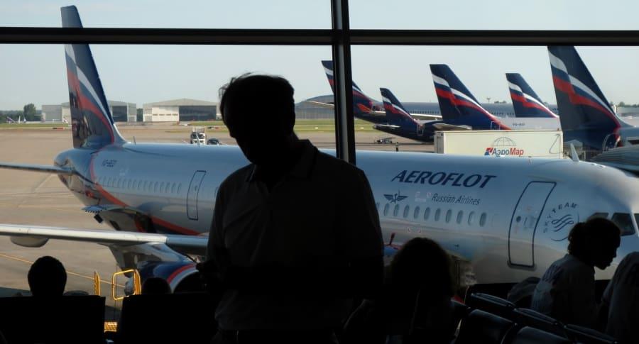 Avión de Aeroflot en Moscú