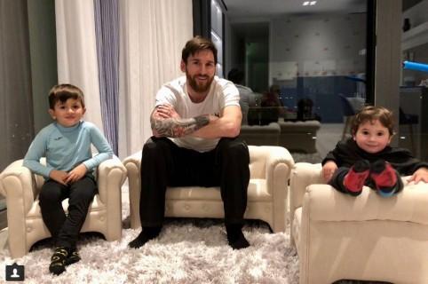Lionel Messi e hijos