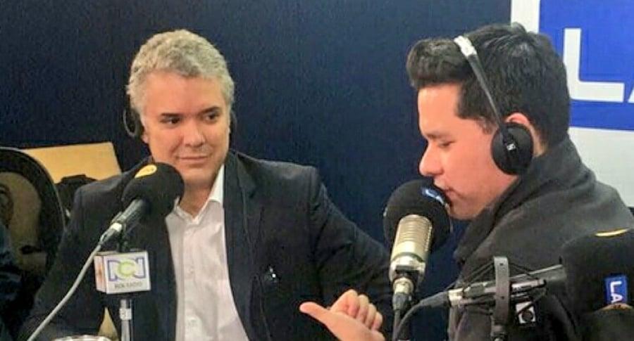 Iván Duque y Luis Carlos Vélez