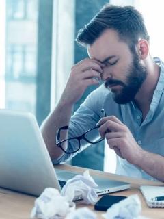 Frustración computador