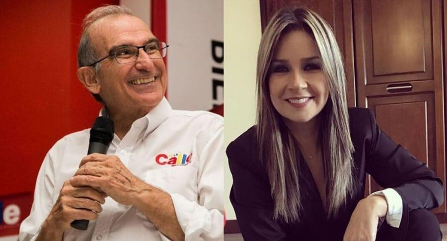 Humberto de la Calle y Vicky Dávila
