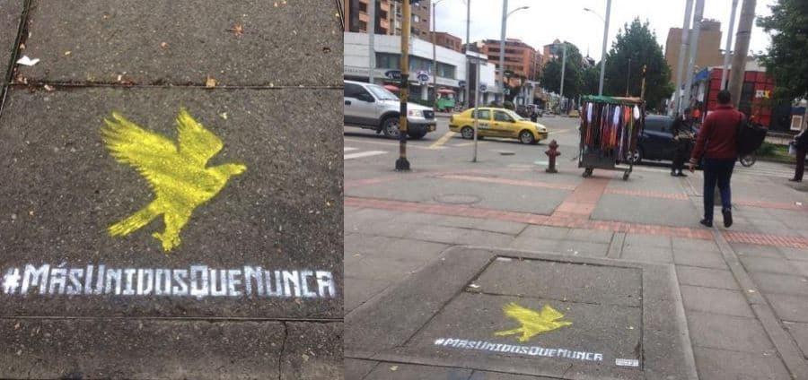 Grafitis en las calles de Bogotá