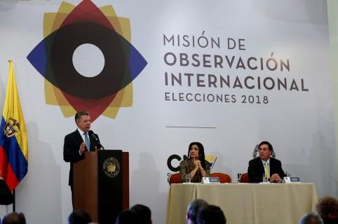 Santos instala Misión de Observación Electoral para elecciones del domingo