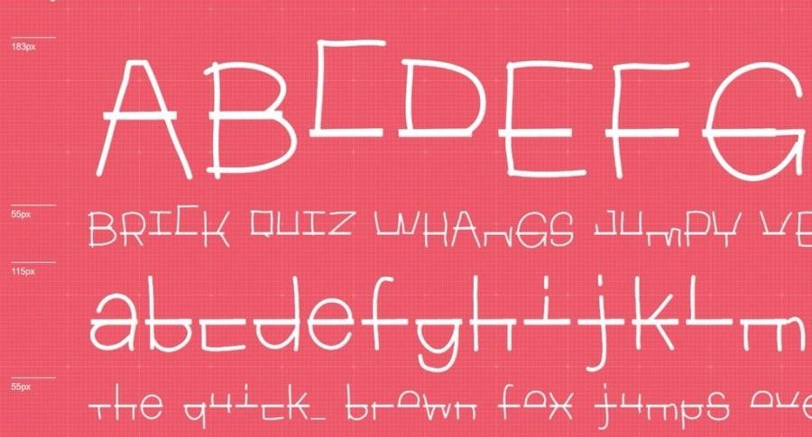 Fuente tipográfica Duque E14