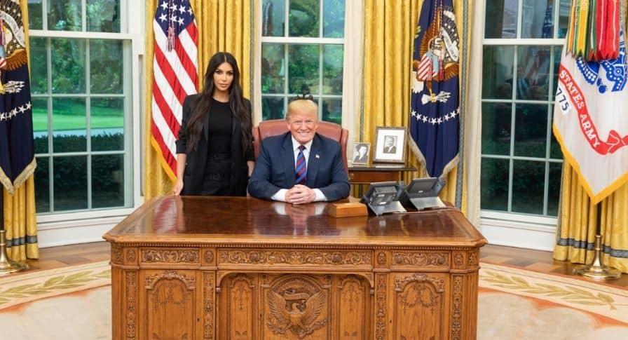 Kim Kardashian y Donald Trump_