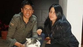 Nairo Quintana y esposa