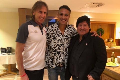 Ricardo Gareca, Paolo Guerro Y Edwin Oviedo.