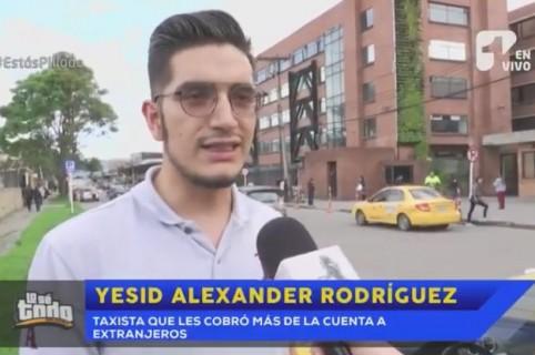Yesid Alexánder Rodríguez, taxista acusado de cobrar demás en un servicio