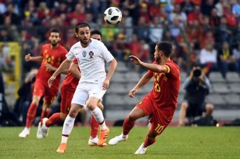 Partido amistoso entre Portugal y Bélgica