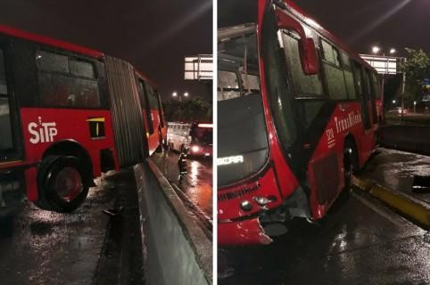 Accidente de un bus de Transmilenio