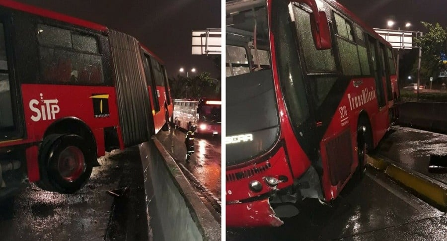 Accidente de un bus de Transmilenio
