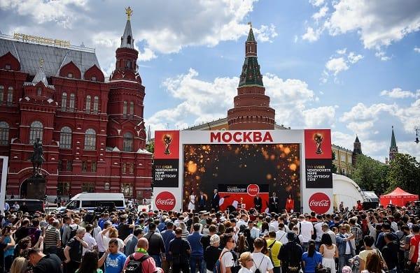 Presentación Copa Mundo en Moscú