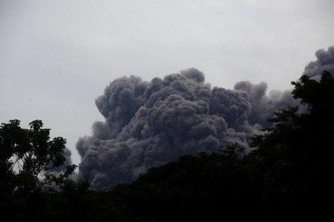 Erupción del volcán de Fuego, en Guatemala