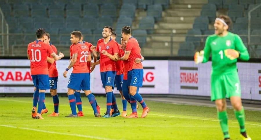 Amistoso entre Serbia y Chile