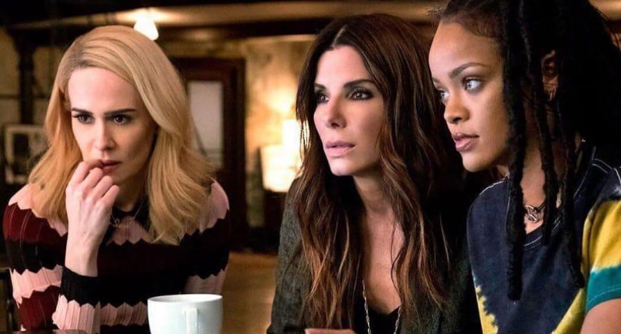 Sarah Paulson, Sandra Bullock y Rihanna en 'Oceans'8'
